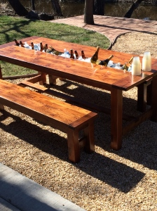My brother-in-law (who moonlights as Nick Offerman) made this table for my sister!