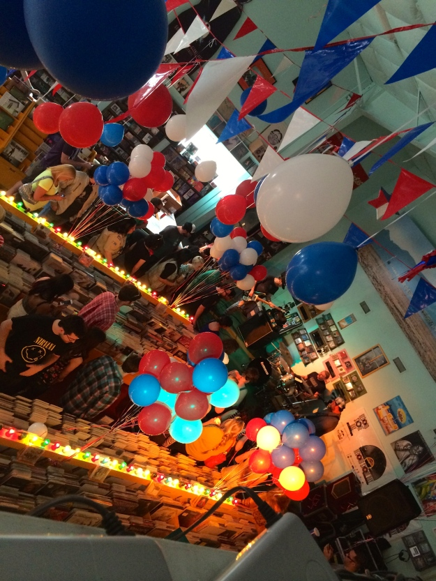 The inside of Good Records. Really cool place. They might be 4th of July enthusiasts.