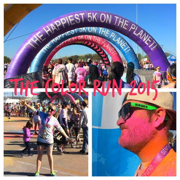 the color run collage